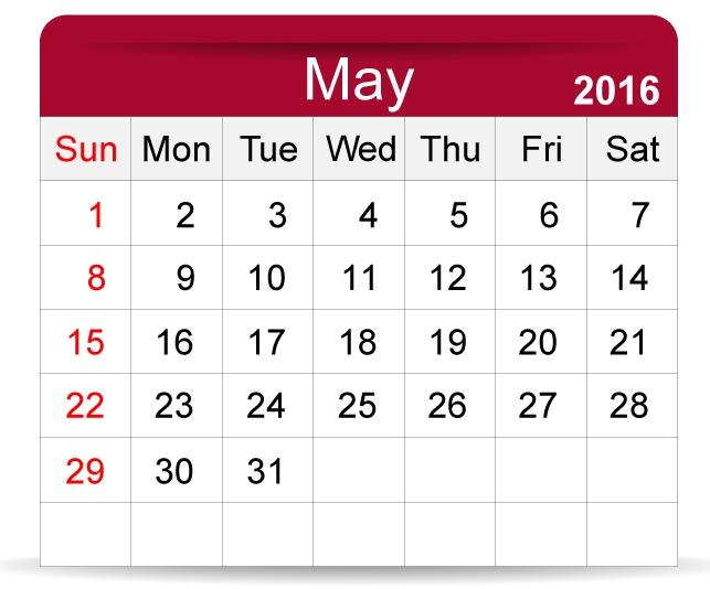 May-2016-Calendar
