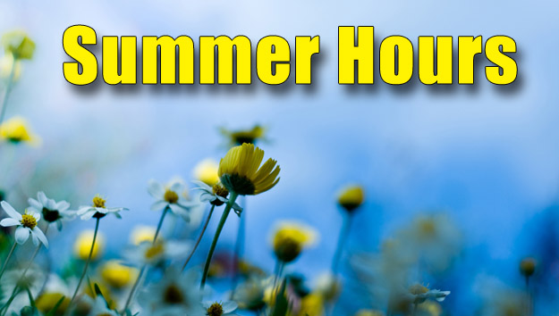 Special Summer Hours at STB