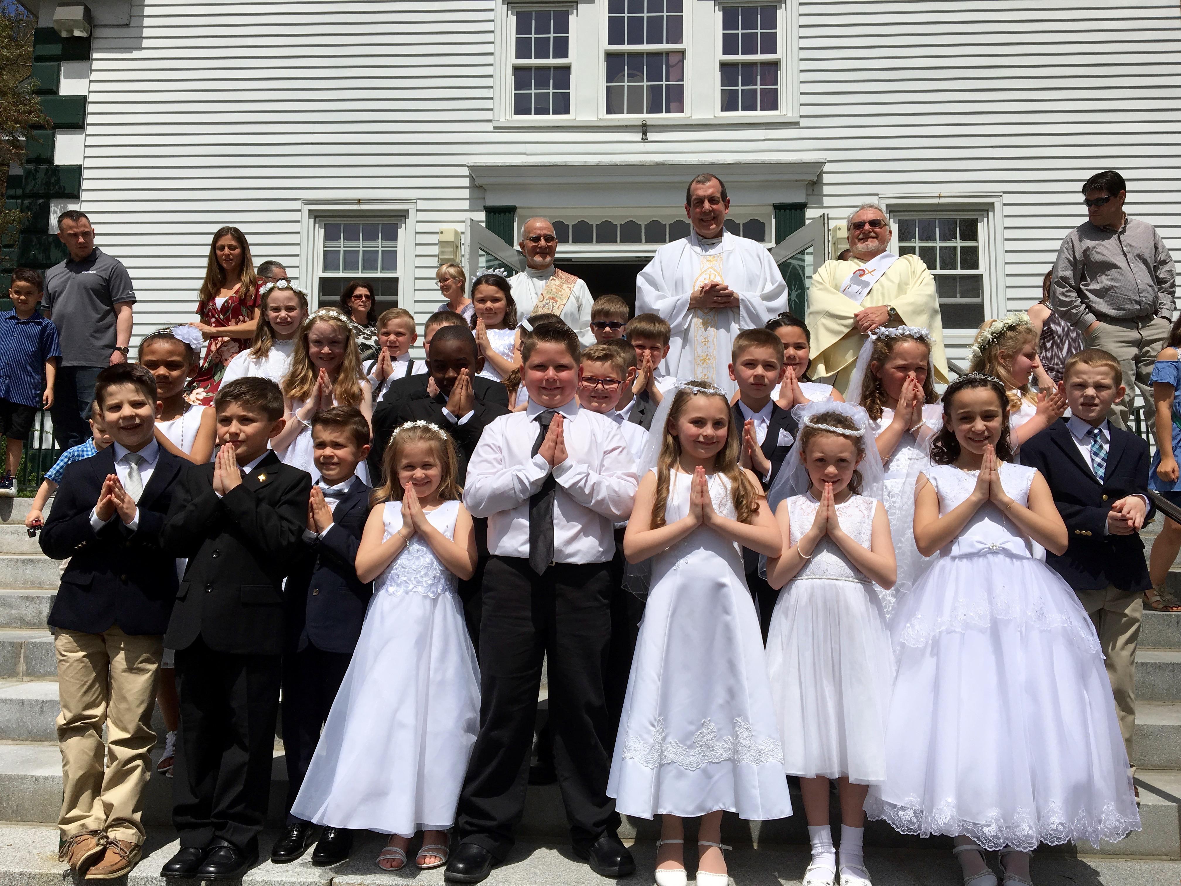 first communion st bernard s elementary school